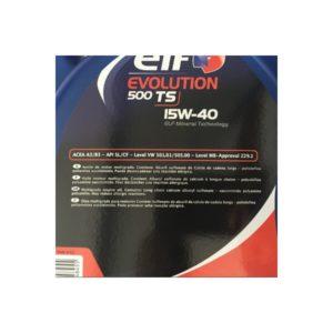 ELF EVOLUTION 500 TS 15W40 5L