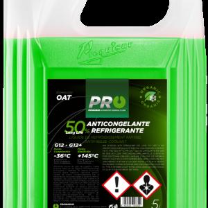 ANTICONGELANTE ORGÁNICO 50% VERDE G12/G12+ 5L